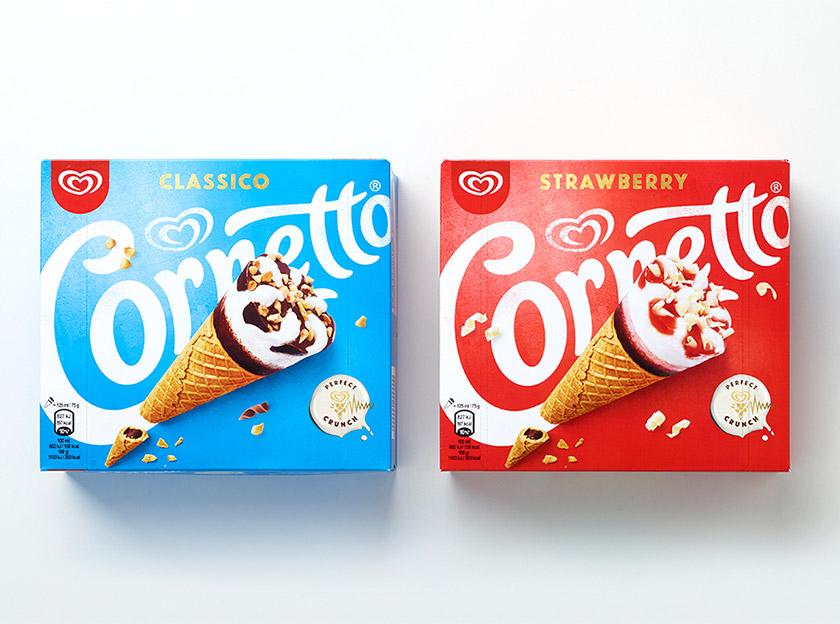 """冰淇淋""""可爱多""""更换产品包装,并推出新logo."""